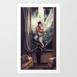 Supernatural: Angel watching over you Art Print
