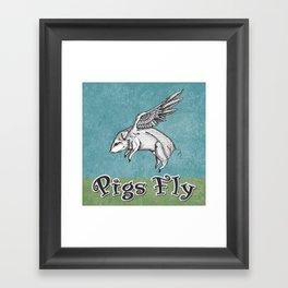 Pigs Fly Framed Art Print