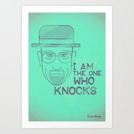 Breaking Bad - Faces - Heisenberg Art Print