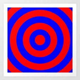 Target (Red & Blue Pattern) Art Print