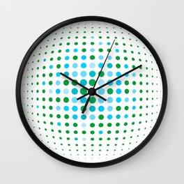 Green and blue optic Wall Clock
