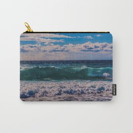 Big Surf at Blue Shutters Beach, Rhode Island Carry-All Pouch