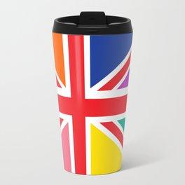 Rainbow Union Jack Travel Mug
