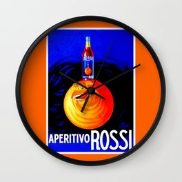 Italian Aperitivo Wall Clock