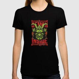 Demon Inside Samurai Mask T-shirt