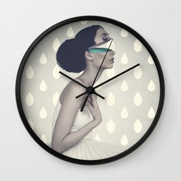 Dancing In The Rain - color version Wall Clock