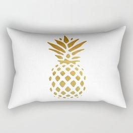 Golden Pineapple Rectangular Pillow
