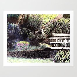 Pointy Garden Art Print