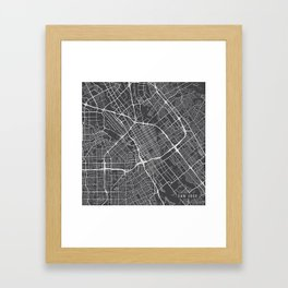 San Jose Map, USA - Gray Framed Art Print