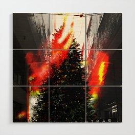 Burning Christmas Wood Wall Art
