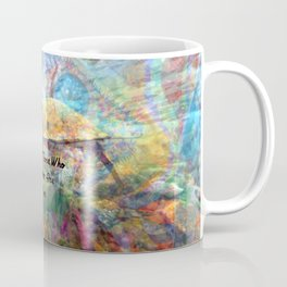 Not All Who Those Wander Are Lost Inspirational Quote With Beautiful Sea Turtle Painting Coffee Mug