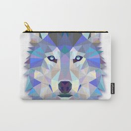 Colorful Wolf Carry-All Pouch