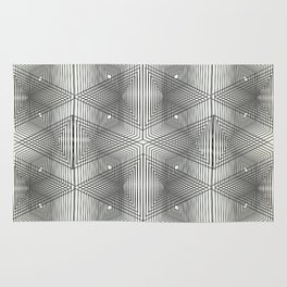 Optical Vibrations in Black and White Rug