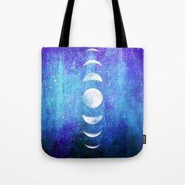 Lunar Cycle // Blue Purple Space Tote Bag