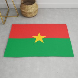 Burkinabe flag African design for home decoration. Rug