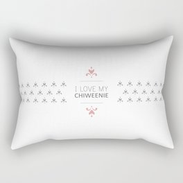 I Love My Chiweenie Boutique Logo Rectangular Pillow