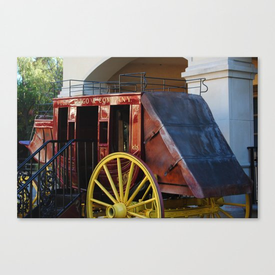 Stage Coach Canvas Print