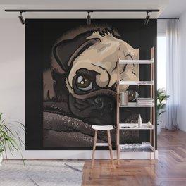 Baby Pug Dog Wall Mural
