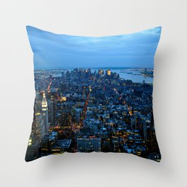 The City That Never Sleeps - NYC Throw Pillow
