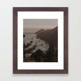 West Coast Golden Light Framed Art Print