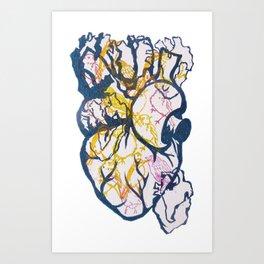 """""""Tenho el coracao com passarinhos"""" Art Print"""