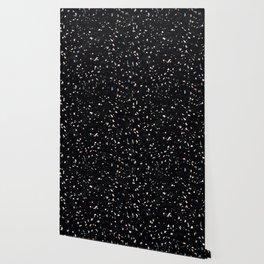 Terrazzo Memphis black galaxy Wallpaper