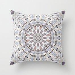Agate Mandala Throw Pillow