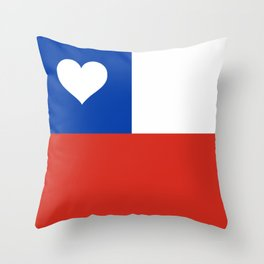 Texas State Flag with Heart Throw Pillow