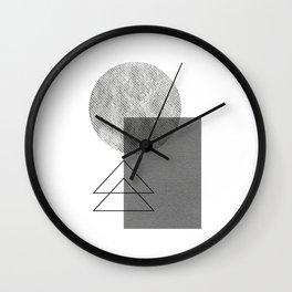 Grey white geometric Wall Clock
