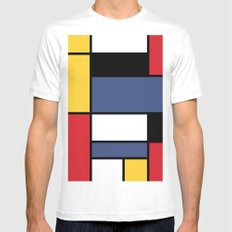 Abstraction color Mens Fitted Tee White LARGE