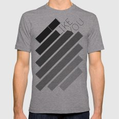 I Like You Graphik: Alternate Mens Fitted Tee Tri-Grey SMALL