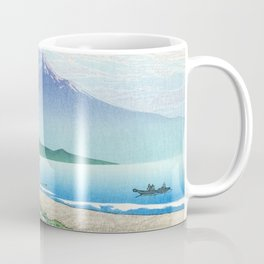 Kawase Hasui, Mount Fuji Seen From Miho Beach - Vintage Japanese Woodblock Print Art Coffee Mug