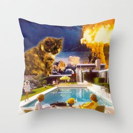 Midcentury Radioactive Cuddle Unit 5 Throw Pillow