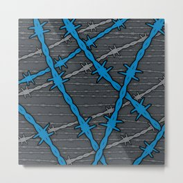 Barbed ELECTRIC BLUE Metal Print