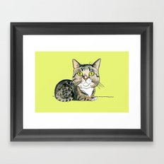 Green-eyed Cat Framed Art Print