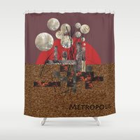 metropolis Shower Curtains featuring Metropolis by beataS