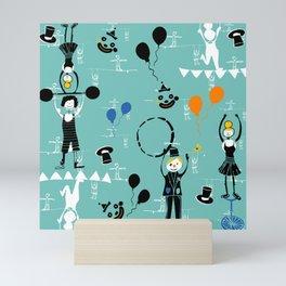 Acrobats blue Mini Art Print