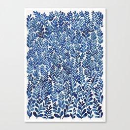 Indigo blues Canvas Print