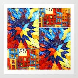 Colorful City Art Print