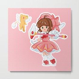 Sakura & Kero Metal Print