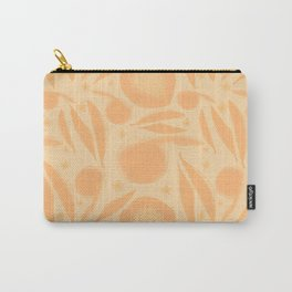 Apricot Peaches and Blossom Carry-All Pouch