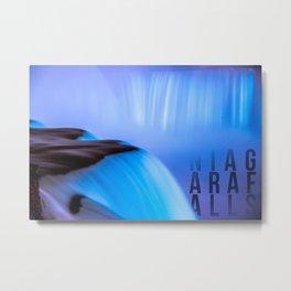 Blue Horseshoe Niagara Falls Metal Print