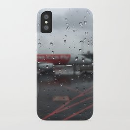 Water Drops On Plane Window iPhone Case