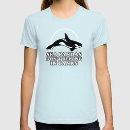Sea Pandas Don't Belong In Tanks T-shirt