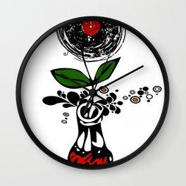 Cool Enchanting Vinyl Records Pop Music - Retro Vintage Wall Clock
