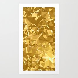 Gold Triangles Art Print
