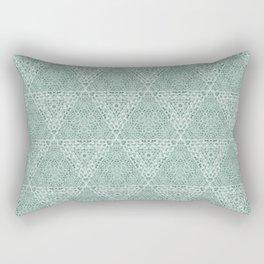 Decorative Mint Green Burlap Texture Pattern Rectangular Pillow