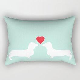 Love between dogs Rectangular Pillow