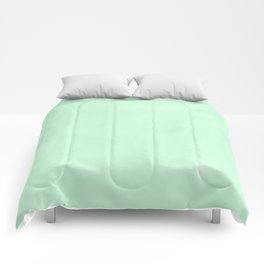 Sea Green Watercolor Comforters