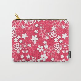 Red and white paper flowers 1 Carry-All Pouch